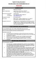 ECA Entry form – Mixed