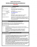 ECA Entry form – Nationals