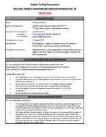 ECA Entry form – Seniors