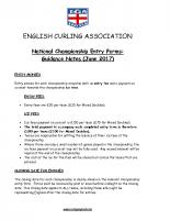 ECA Guidance notes